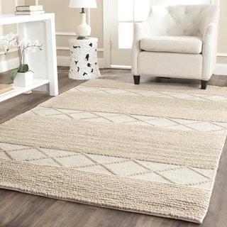 Safavieh Hand-Tufted Natura Beige Wool Rug (6' Square)