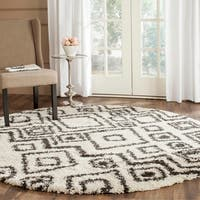 Safavieh Belize Shag Ivory/ Charcoal Moroccan Rug - 6'7 Round