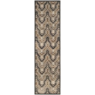 Safavieh Paradise Kinneret Modern Viscose Rug (22 x 8 Runner - Soft Anthracite/Cream)
