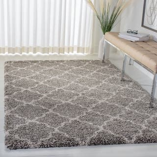 Safavieh Hudson Quatrefoil Shag Grey/ Ivory Rug (5'1 x 7'6)|https://ak1.ostkcdn.com/images/products/9773425/P16943447.jpg?impolicy=medium