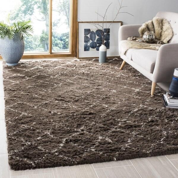Safavieh Hand-Woven Kenya Dark Grey/ Ivory Wool Rug (8' x 10')