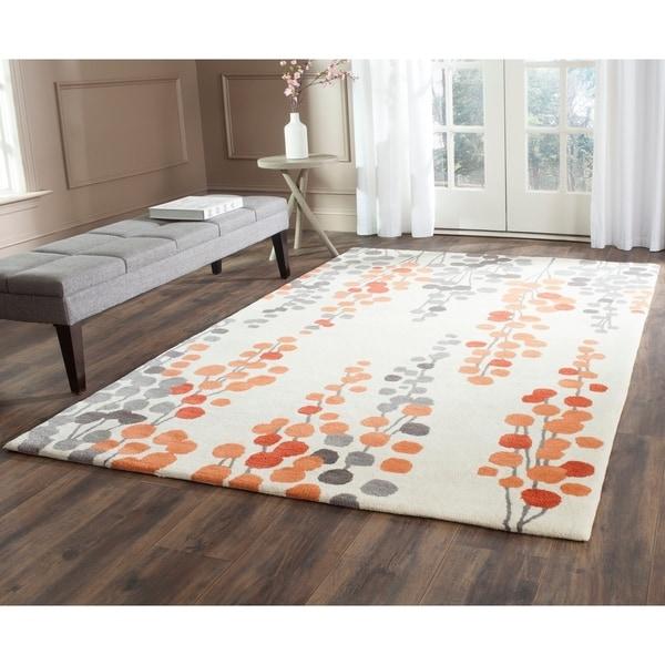 Safavieh Hand-Tufted Soho Beige/ Orange Wool/ Viscose Rug - 5' x 8'