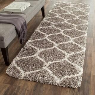 Safavieh Hudson Shag Grey/Ivory Rug (2'3 x 8')
