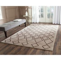 Safavieh Hand-Tufted Soho Light Grey/ Dark Grey Wool/ Viscose Rug (5' x 8') - 5' x 8'