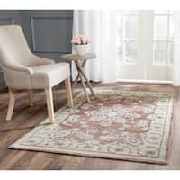Safavieh Hand-knotted Stone Wash Charcoal Wool/ Cotton Rug - 2'6 x 8'