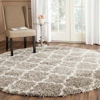 Safavieh Hudson Quatrefoil Shag Grey/ Ivory Rug (7' Round)|https://ak1.ostkcdn.com/images/products/9773481/P16943500.jpg?impolicy=medium
