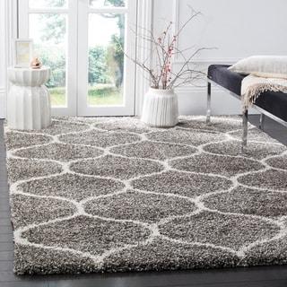 Safavieh Hudson Shag Grey/Ivory Rug (7' Square)
