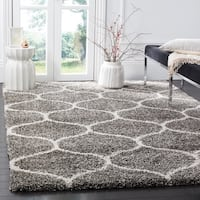 Safavieh Hudson Moroccan Ogee Grey/ Ivory Shag Rug - 7' Square