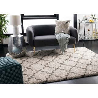 Safavieh Hudson Quatrefoil Shag Ivory/ Grey Rug (7' Square)|https://ak1.ostkcdn.com/images/products/9773499/P16943516.jpg?impolicy=medium