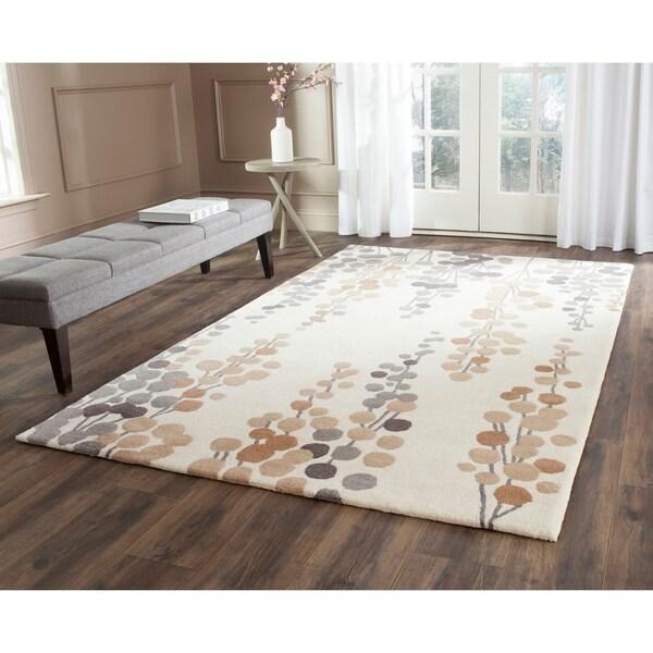 Safavieh Hand-Tufted Soho Beige/ Grey Wool/ Viscose Rug - 7'6 x 9'6