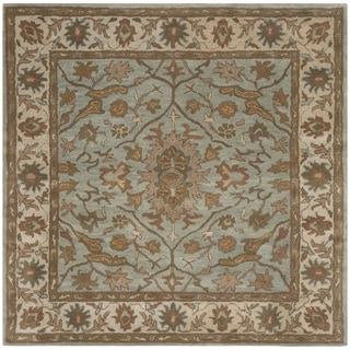 Safavieh Handmade Heritage Timeless Traditional Light Blue/ Ivory Wool Rug (6' Square)