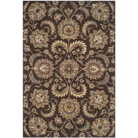 Safavieh Handmade Heritage Timeless Traditional Brown/ Gold Wool Rug - 6' x 9'