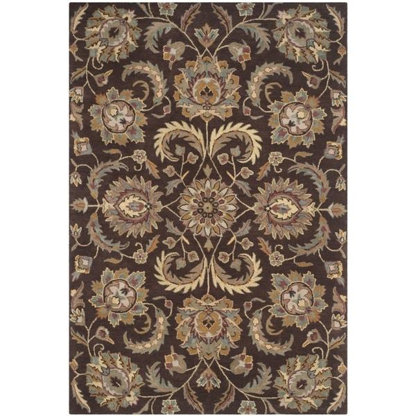 6 X9 Handmade Persian Wool Silk Area Rug Oriental Design: Shop Safavieh Handmade Heritage Timeless Traditional Brown