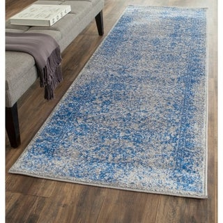 Safavieh Adirondack Vintage Distressed Grey / Blue Runner Rug (2'6 x 10')