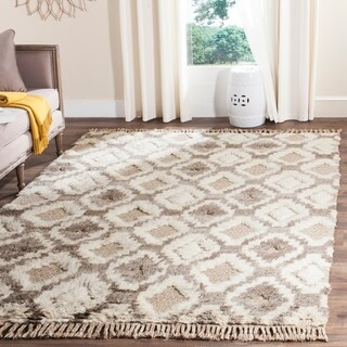 Safavieh Hand-Woven Kenya Natural Wool Rug (6' x 9')