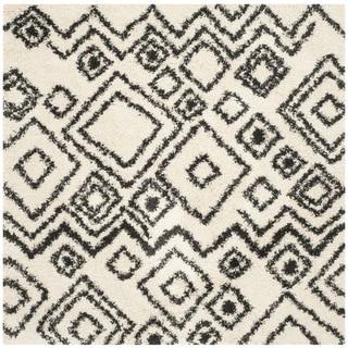 Safavieh Belize Shag Ivory/ Charcoal Rug (6'7 Square)