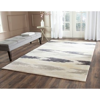 Safavieh Hand-Tufted Soho Ivory/ Grey Wool/ Viscose Rug (6' Square)