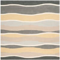 Safavieh Hand-Tufted Soho Grey/ Gold Wool/ Viscose Rug (6' Square)