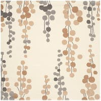 Safavieh Hand-Tufted Soho Beige/ Grey Wool/ Viscose Rug - 6' x 6' Square
