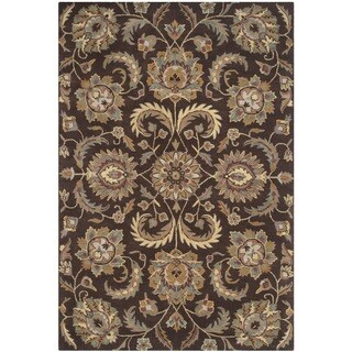 Safavieh Handmade Heritage Timeless Traditional Brown/ Gold Wool Rug (8' x 10')