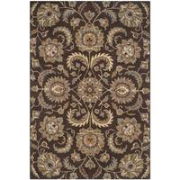 Safavieh Handmade Heritage Timeless Traditional Brown/ Gold Wool Rug - 8' x 10'