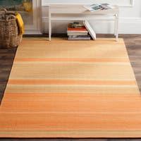 Safavieh Hand-Woven Kilim Orange/ Lime Wool Rug - 8' x 10'