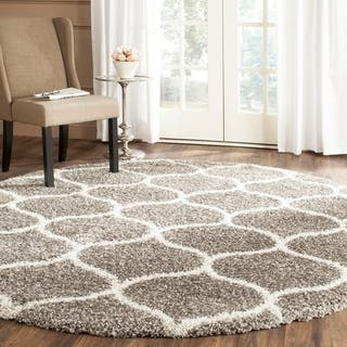 Safavieh Hudson Shag Modern Ogee Grey/ Ivory Rug (7' Round)|https://ak1.ostkcdn.com/images/products/9773566/P16943589.jpg?impolicy=medium