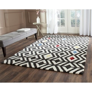 Safavieh Hand-Tufted Soho Beige/ Charcoal Wool/ Viscose Rug (7'6 x 9'6)