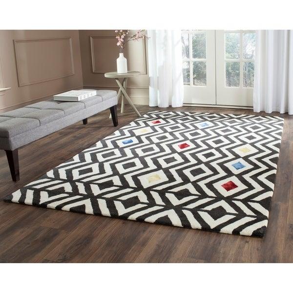 Safavieh Hand-Tufted Soho Beige/ Charcoal Wool/ Viscose Rug - 7'6 x 9'6