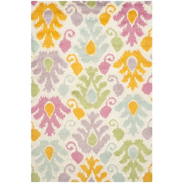 Safavieh Hand-Woven Kenya Multi Wool Rug - White/Purple - 9' x 12'