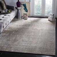Safavieh Handmade Mirage Modern Silver/ Green Wool/ Viscose Rug - 9' x 12'