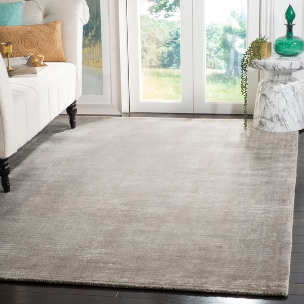 Safavieh Handmade Mirage Modern Tonal Grey Wool/ Viscose Area Rug - 9' x 12'