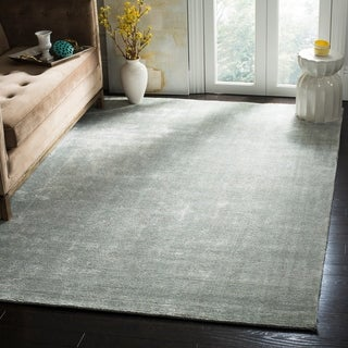 Safavieh Handmade Mirage Modern Light Blue Wool/ Viscose Rug (9' x 12')