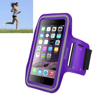 INSTEN Neoprene Gym Exercise Sport Band Running Armband Case with Built-in Key Holder for Apple iPhone X/ 8 Plus/ 7 Plus (Option: Purple)