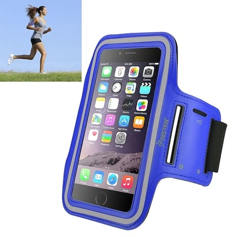 INSTEN Neoprene Gym Exercise Sport Band Running Armband Case with Built-in Key Holder for Apple iPhone XS Max/ XR/ 8 Plus