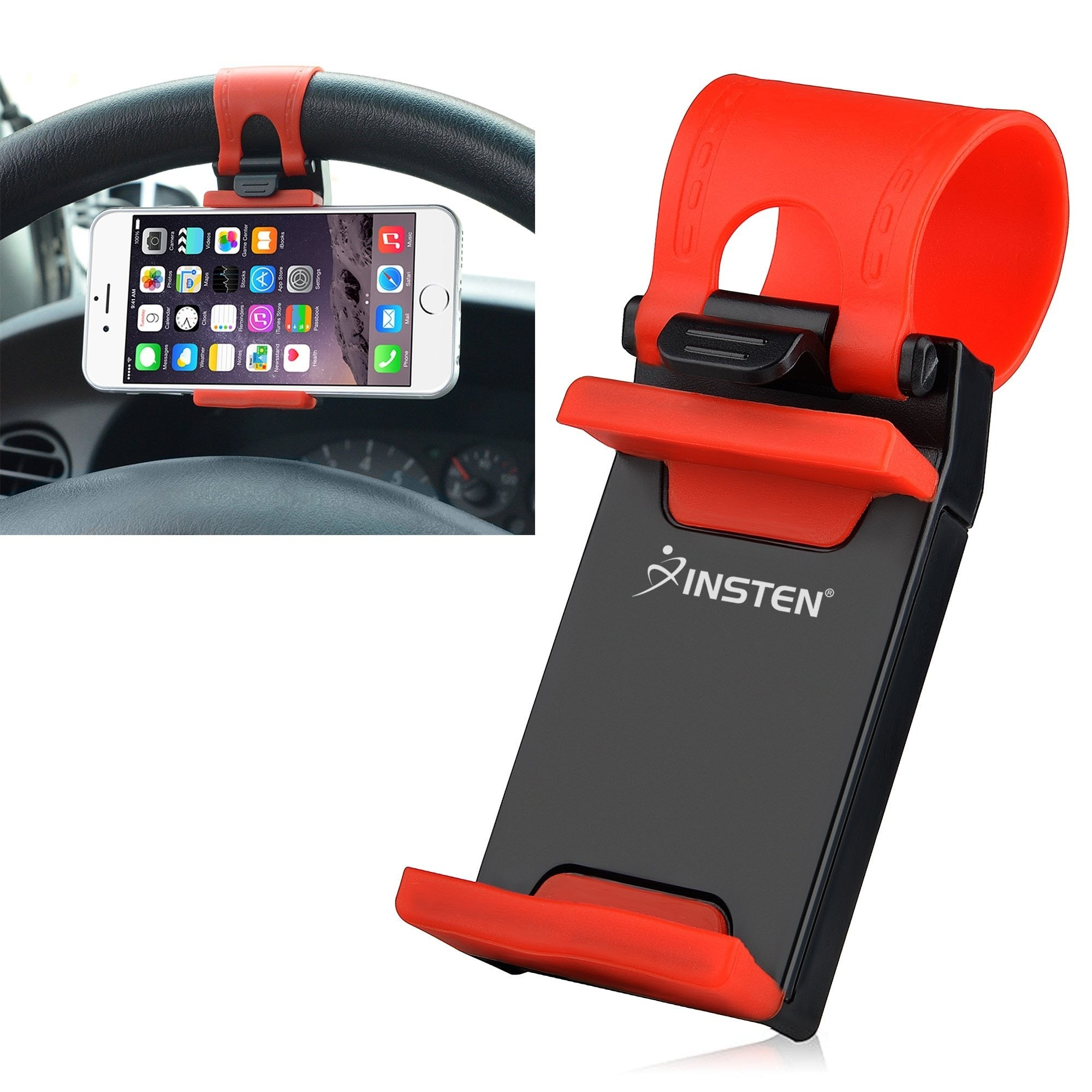 Insten Universal Car Steering Wheel Clip Mount Phone Hold...