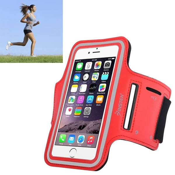 shop insten neoprene exercise armband case with built in key holder for apple iphone 6 7 8. Black Bedroom Furniture Sets. Home Design Ideas