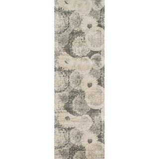 Emerson Ivory/ Smoke Runner Rug (2'4 x 7'9)