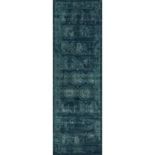 Emerson Medallion Tile Runner Rug (2'4 x 7'9)