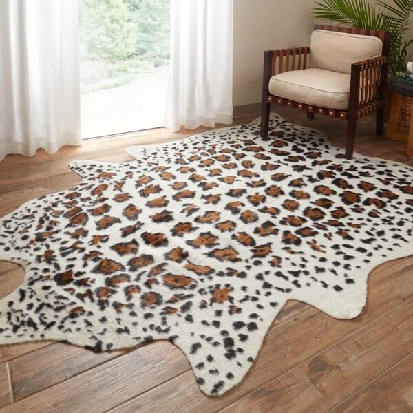 Safavieh Handpicked Hacienda Argentinian Zebra Print: Shop Faux Cowhide Ivory/ Brown Area Rug