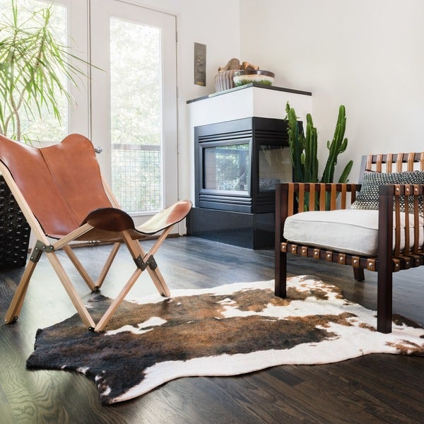Shop Faux Cowhide Brown Beige Area Rug 3 10 Quot X 5 On