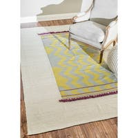 nuLOOM Hand-knotted Transitional Yellow Rug - 6' x 9'