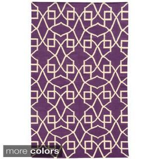 PANTONE UNIVERSE Matrix Ornate Flat Weave Lattice Rug (8' X 10')