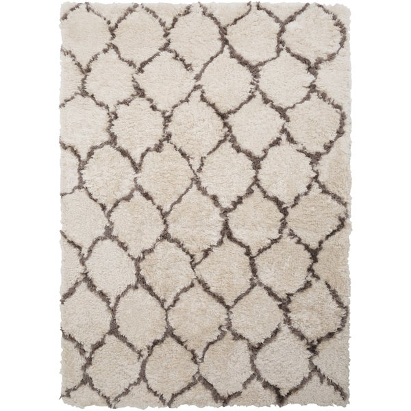 Hand-tufted Wythe Olive and Grey Geometric Plush Area Rug (2' x 3')