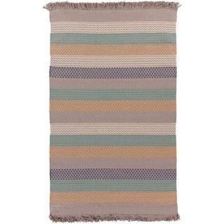 Hand-woven Tracy Stripe Wool Rug (8' x 10')