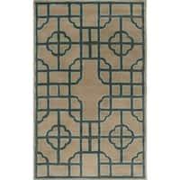 Hand-Tufted Julissa Indoor Wool Area Rug - 5' x 8'