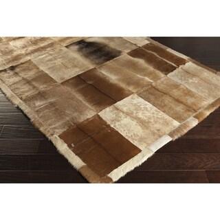 Handmade Terri Animal Leather Strap Rug (5' x 8')
