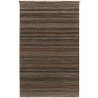 Hand-woven Tessa Stripe Tasseled Wool Area Rug