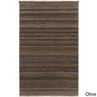 Hand-woven Tessa Stripe Wool Area Rug - 8' x 10'