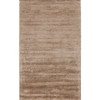 Handmade Pedro Solid Rayon from Bamboo Area Rug